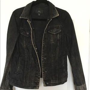 Black Vintage Women's Denim Jacket Eagle Details